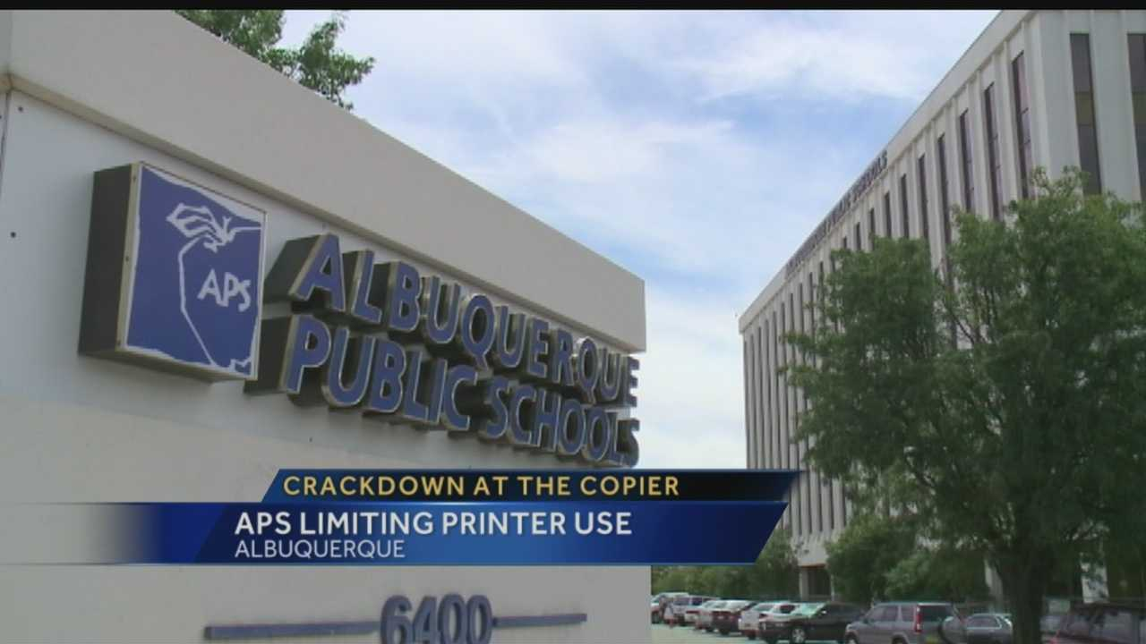 Crackdown at the copier: APS limiting printer use