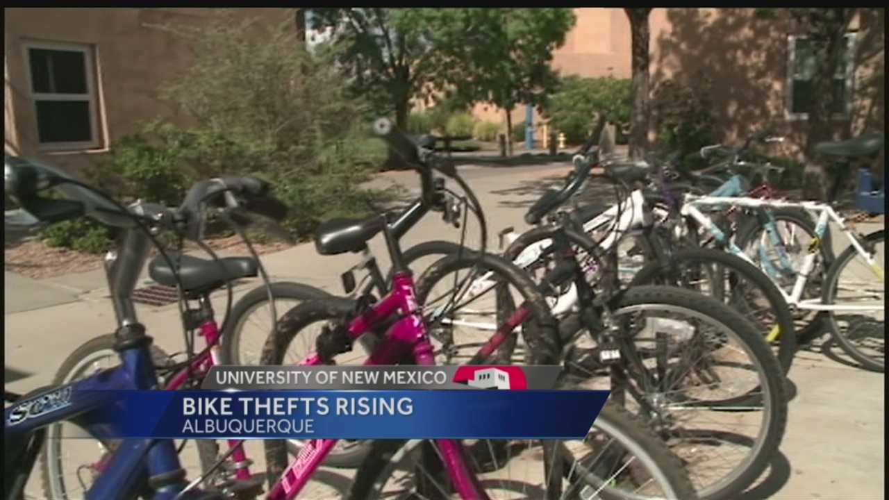 Reports of bicycle thefts at UNM have nearly doubled in the past year.