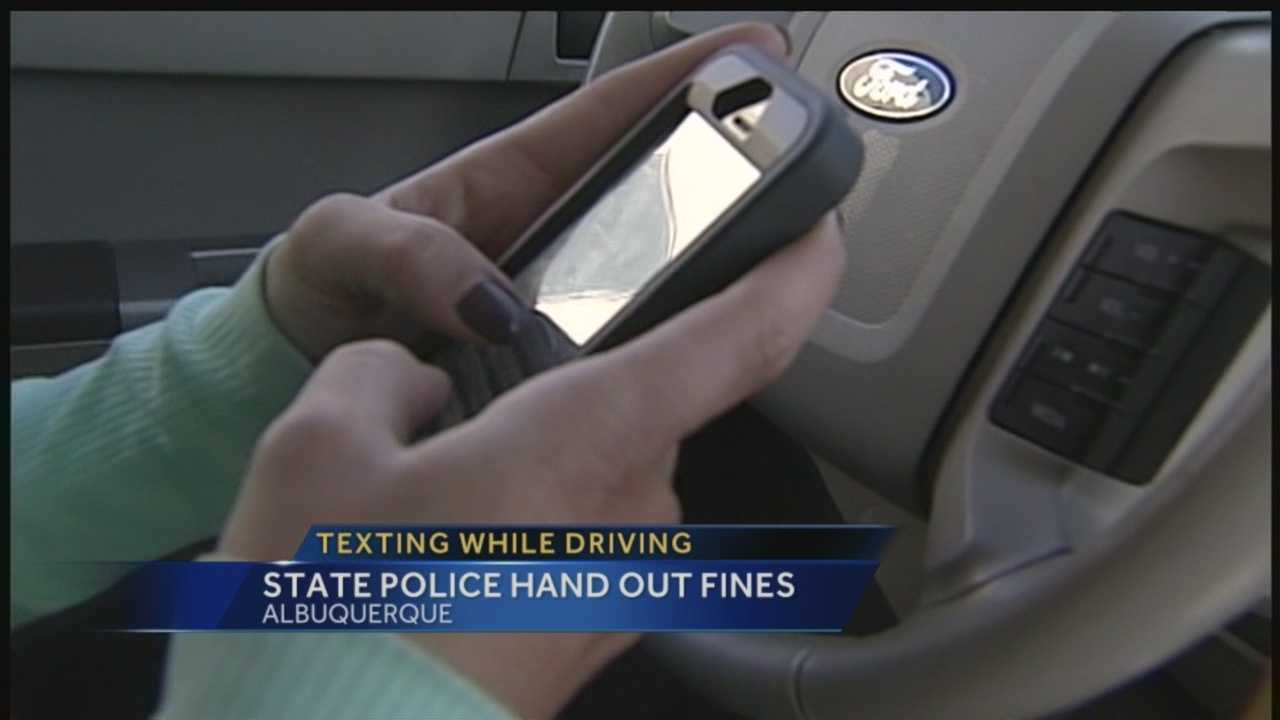 It's only been illegal across the state for two months now, but police are already ticketing plenty of drivers for texting behind the wheel.