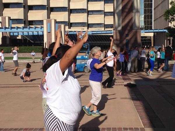 Civilians also had the opportunity to participate in a memorial stair climb at City Hall.
