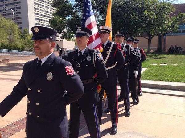 A memorial service was also held in Albuquerque's Civic Plaza.