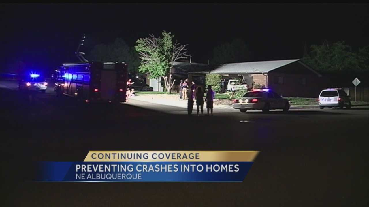 Two Albuquerque families have had enough of cars slamming into their homes.
