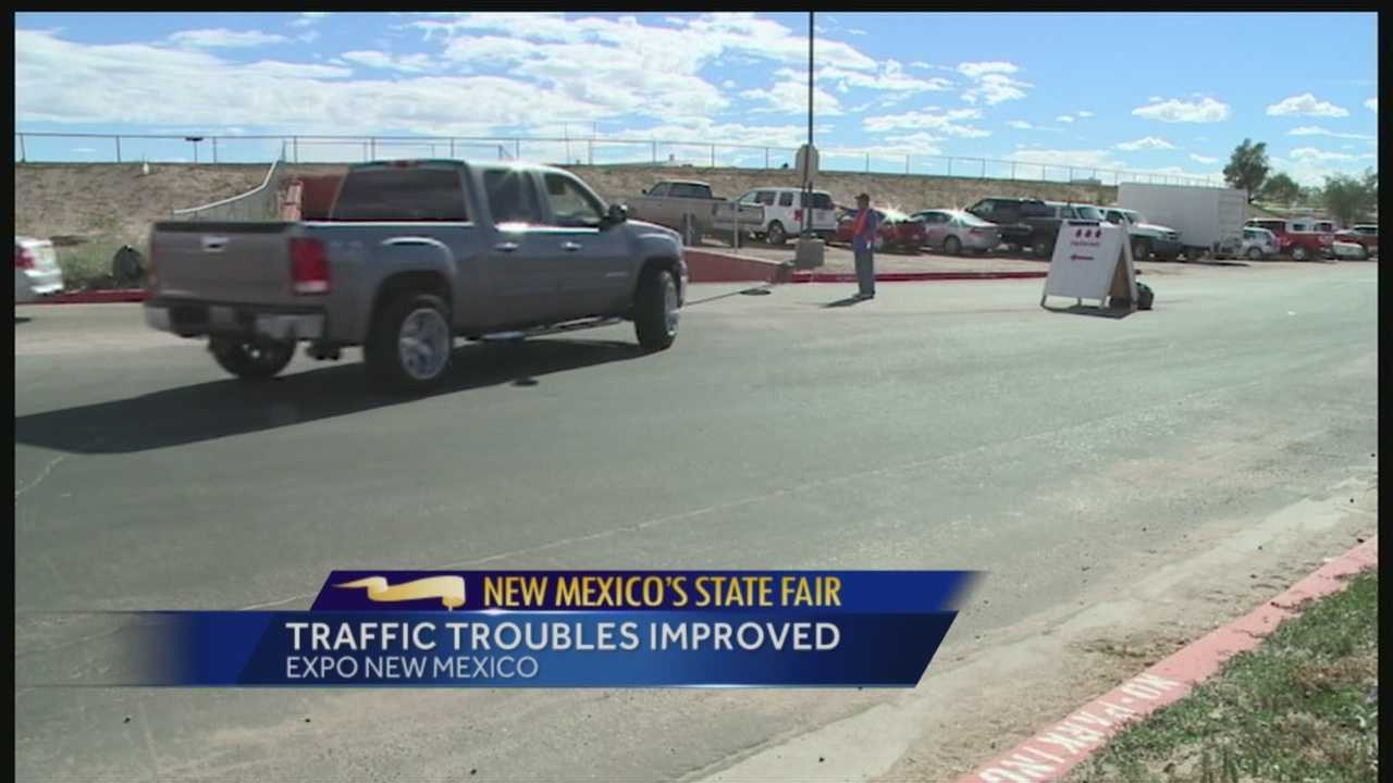 Sunday's traffic at the New Mexico State Fair was much calmer than Saturday.