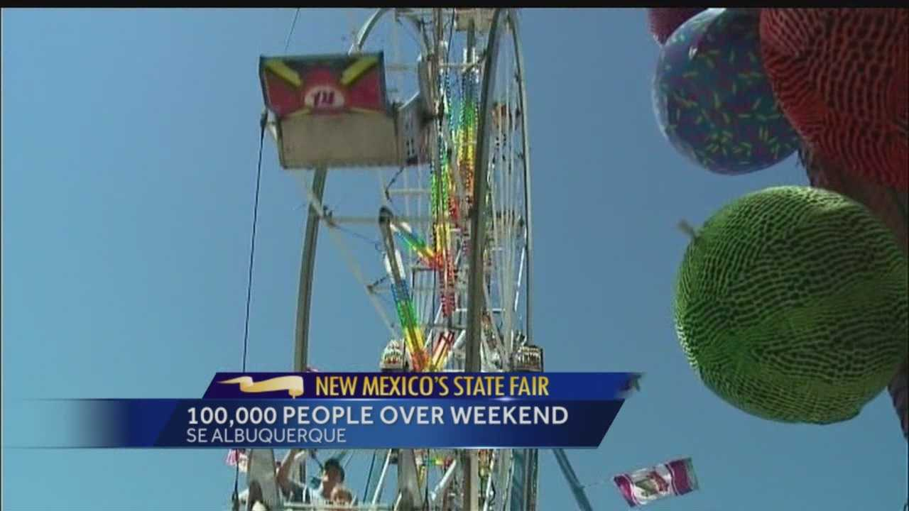 Officials estimate more than 100,000 people passed through the New Mexico State Fair's gates this weekend.