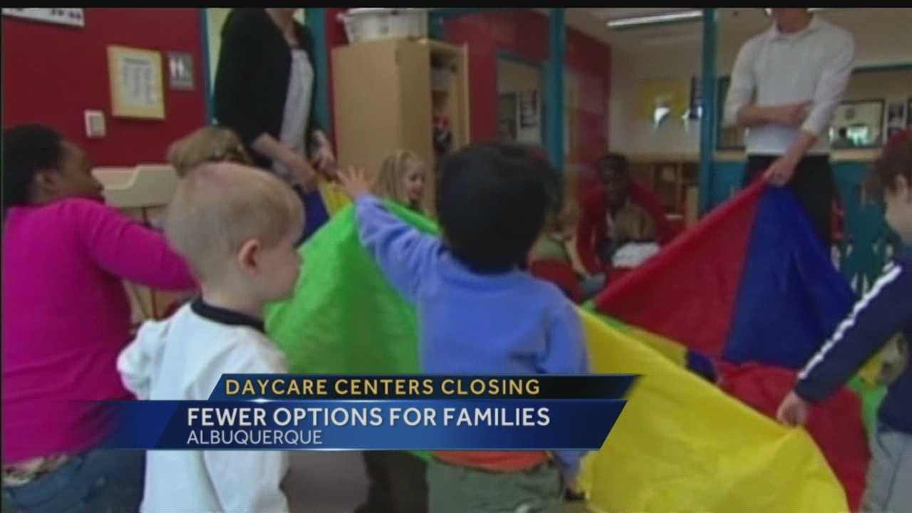 In the past four years 29 percent of day care centers in Bernalillo County have shut down, according to a study done by People for the Kids.