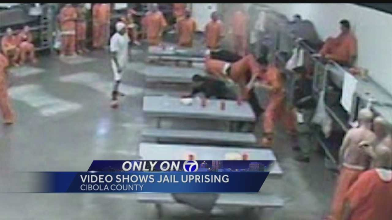 Newly released video from the Cibola County Jail sheds light on the moments that led to an August inmate uprising.