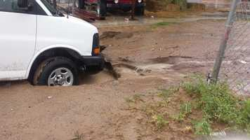 See photos from southern Dona Ana County where the rain is hitting hard.