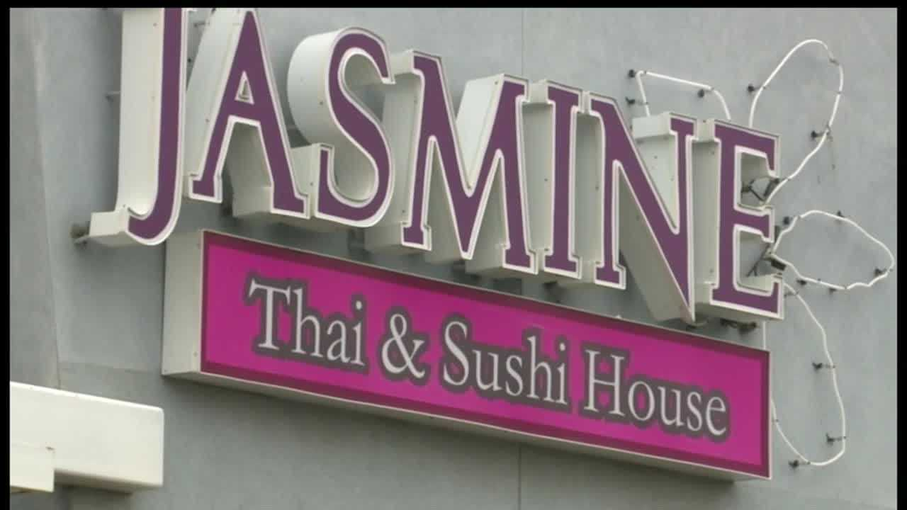 Jasmine Thai restaurant was hit with a red sticker.