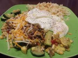 Green Chile Winner: Paul Chavez for his 911 Firehouse Calbacita Green Chile Breakfast Enchiladas