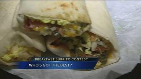 Breakfast burrito at Katrinah's in Edgewood