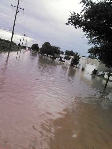 Flooded streets by u local mobile