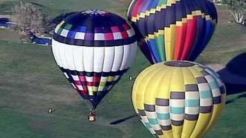 Please don't step on the fabric. If you think a balloon ride is expensive, try owning one.