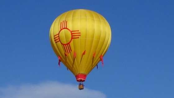 Balloon with a Zia symbol on it