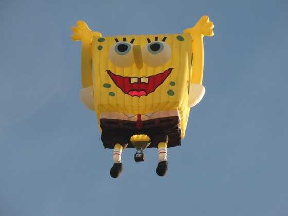 Pop culture notable (SpongeBob, Woody the Woodpecker)