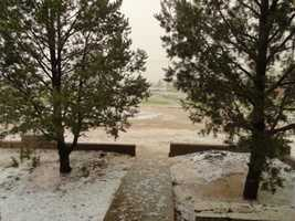 Monday was an active weather day across New Mexico, particularly in De Baca County, which was pelted by hail.