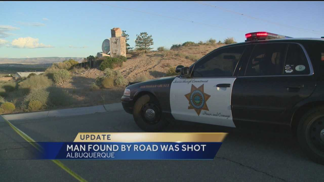 Deputies said a man found dead by an Albuquerque road was shot to death.