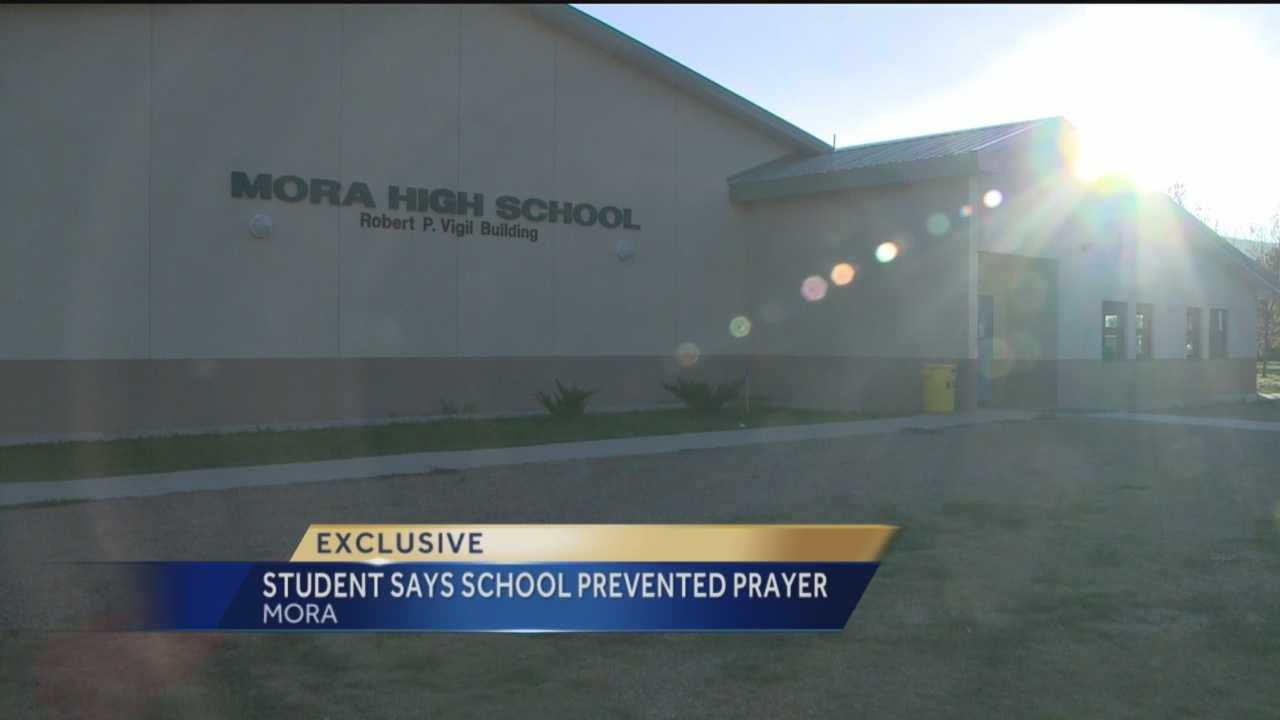 The Mora Independent School District said Thursday they were looking into allegations of a school administrator keeping a Mora High School sophomore from praying prior to eating a school lunch.