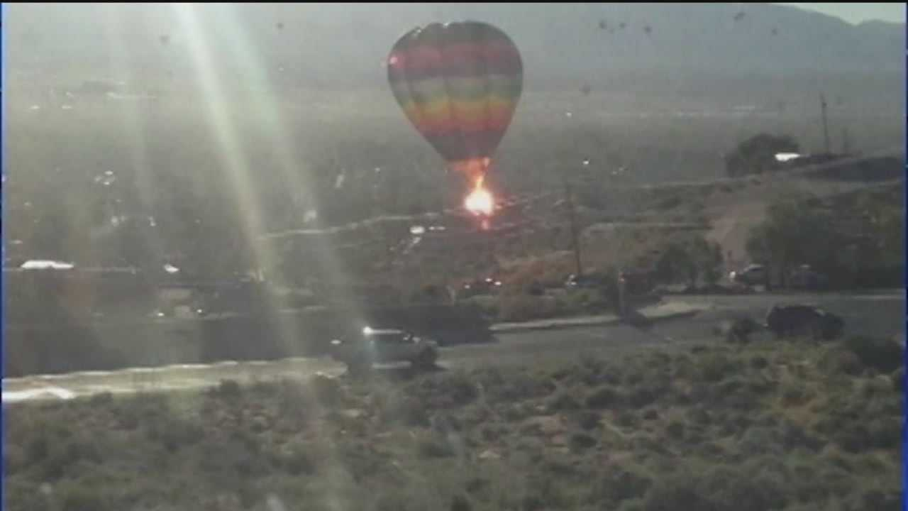 An Albuquerque balloonist is speaking publicly for the first time since a terrifying crash at last year's fiesta.