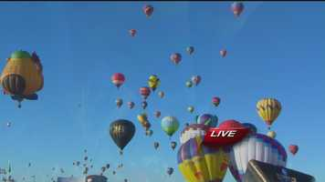 See breathtaking images from Day 1 of the Albuquerque International Balloon Fiesta.