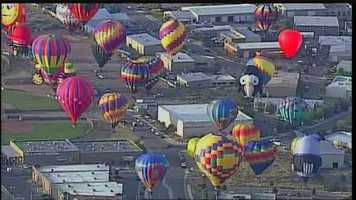 Check out photos from Tuesday's flights at Balloon Fiesta.