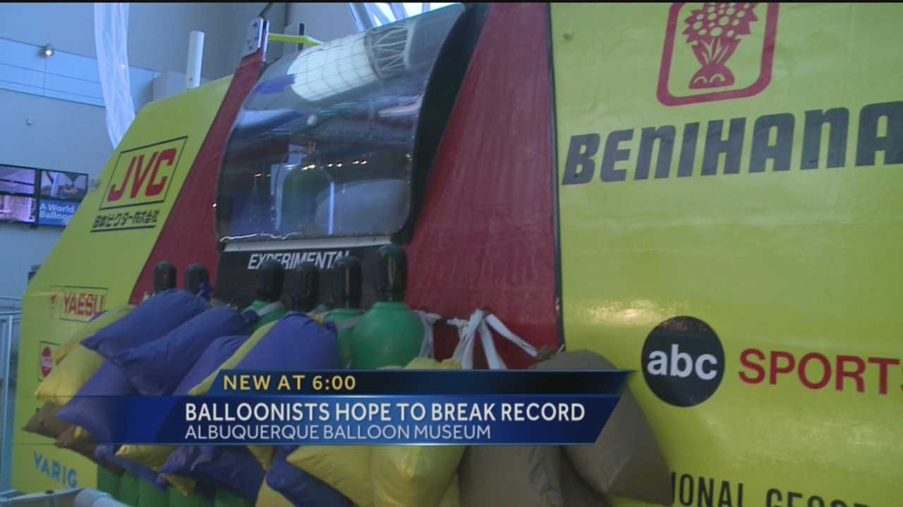 Balloons tend to travel hundreds of miles in gas balloon races. But one New Mexico balloonist and his co-pilot have a much bigger goal and are ready to take flight.