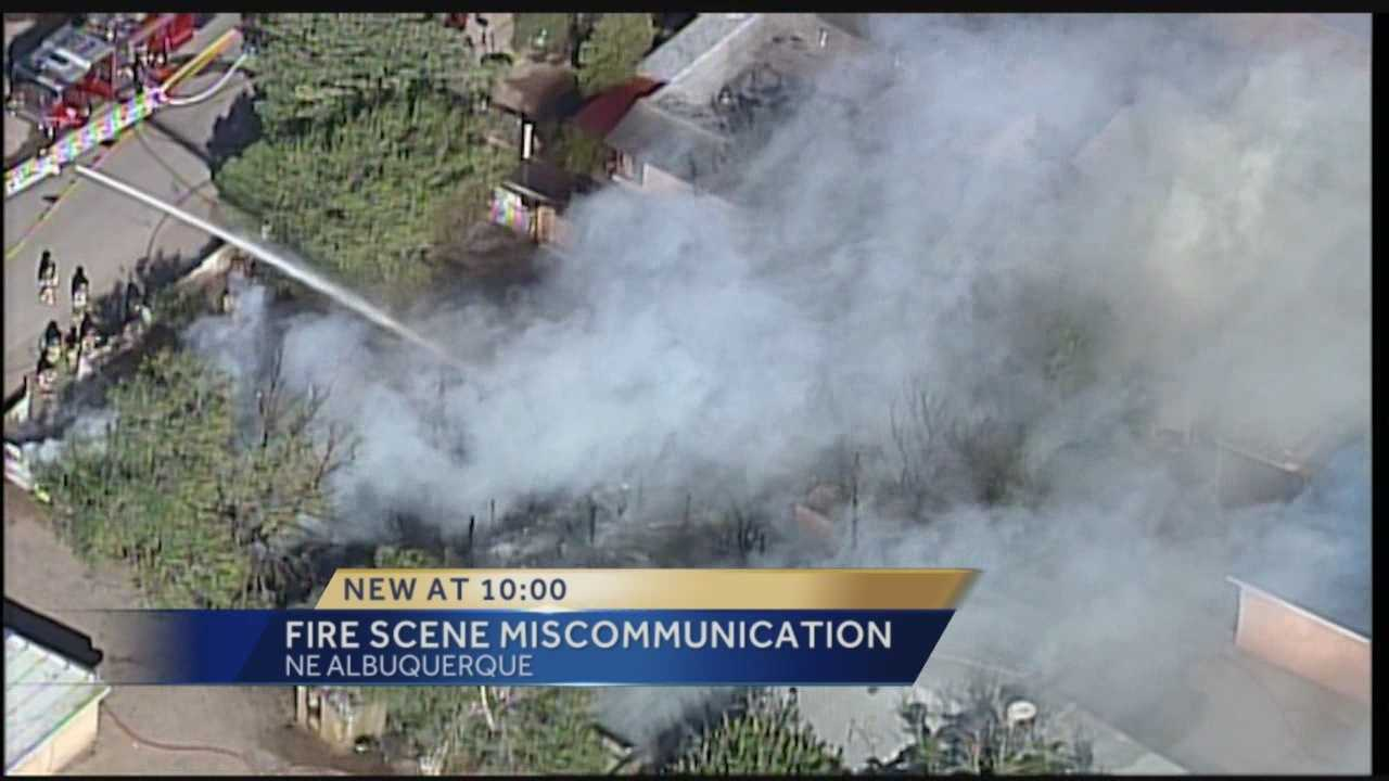 Confusion and Miscommunication.  That's what firefighters say happened when they responded to a massive fire in Albuquerque.