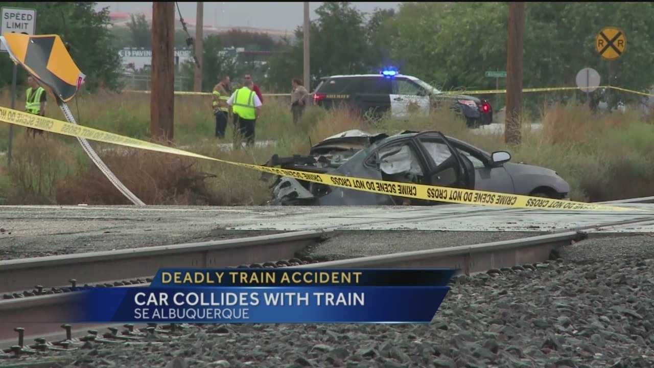 The Rail Runner Express was involved in a deadly crash with a car Friday morning near Second Street and Desert Road.
