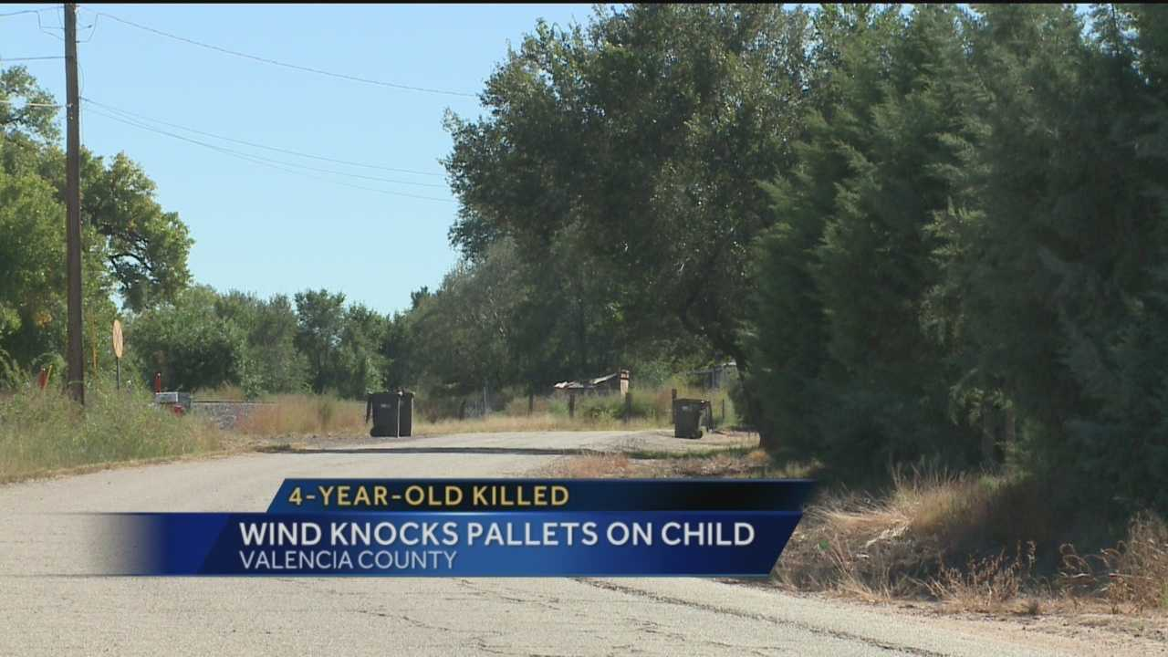 An emotional and devastating scene took over a Valencia County neighborhood Sunday afternoon when high winds caused a fatal situation for a 4-year-old girl.