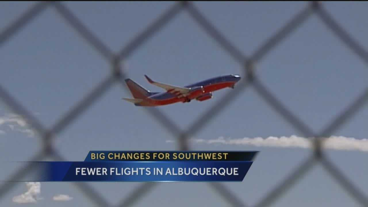 Southwest Airlines plans to cut five flights from the Albuquerque Sunport in November.