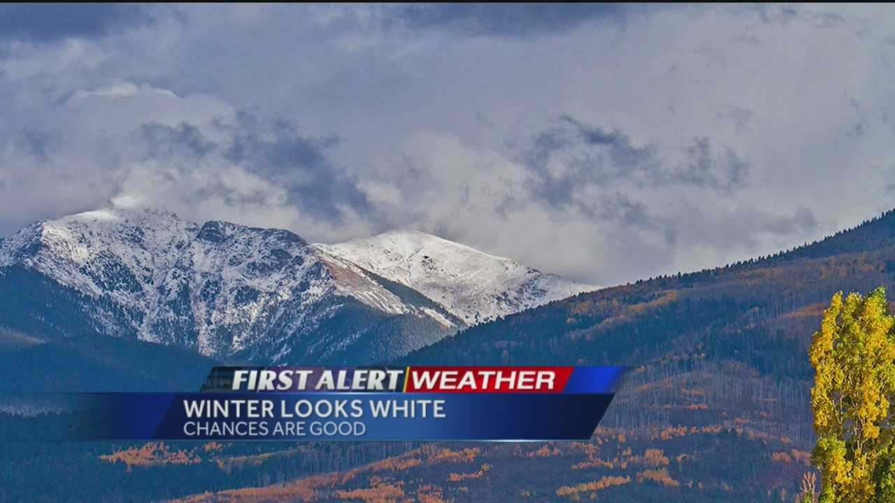 New Mexico's northern mountains are already whitening and a new winter outlook forecast is calling for a flurry of flakes.