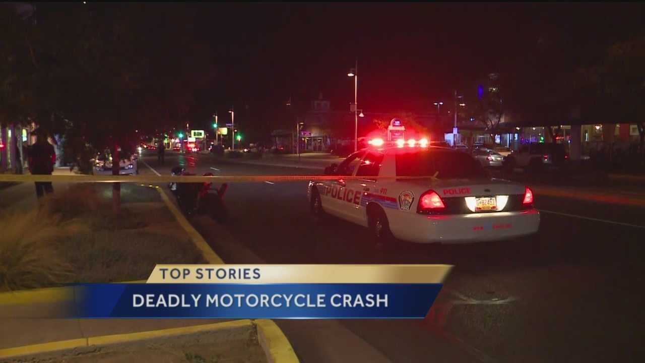 A motorcyclist was killed Thursday night in a crash in the Nob Hill area near Central Avenue and Carlisle Road.