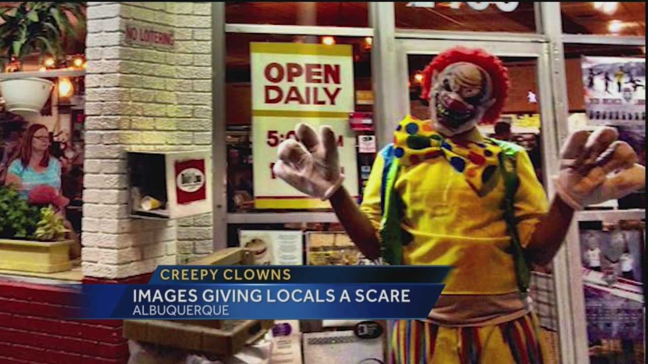 A spooky picture of an Albuquerque clown outside of Frontier Restaurant is making its way across social media.