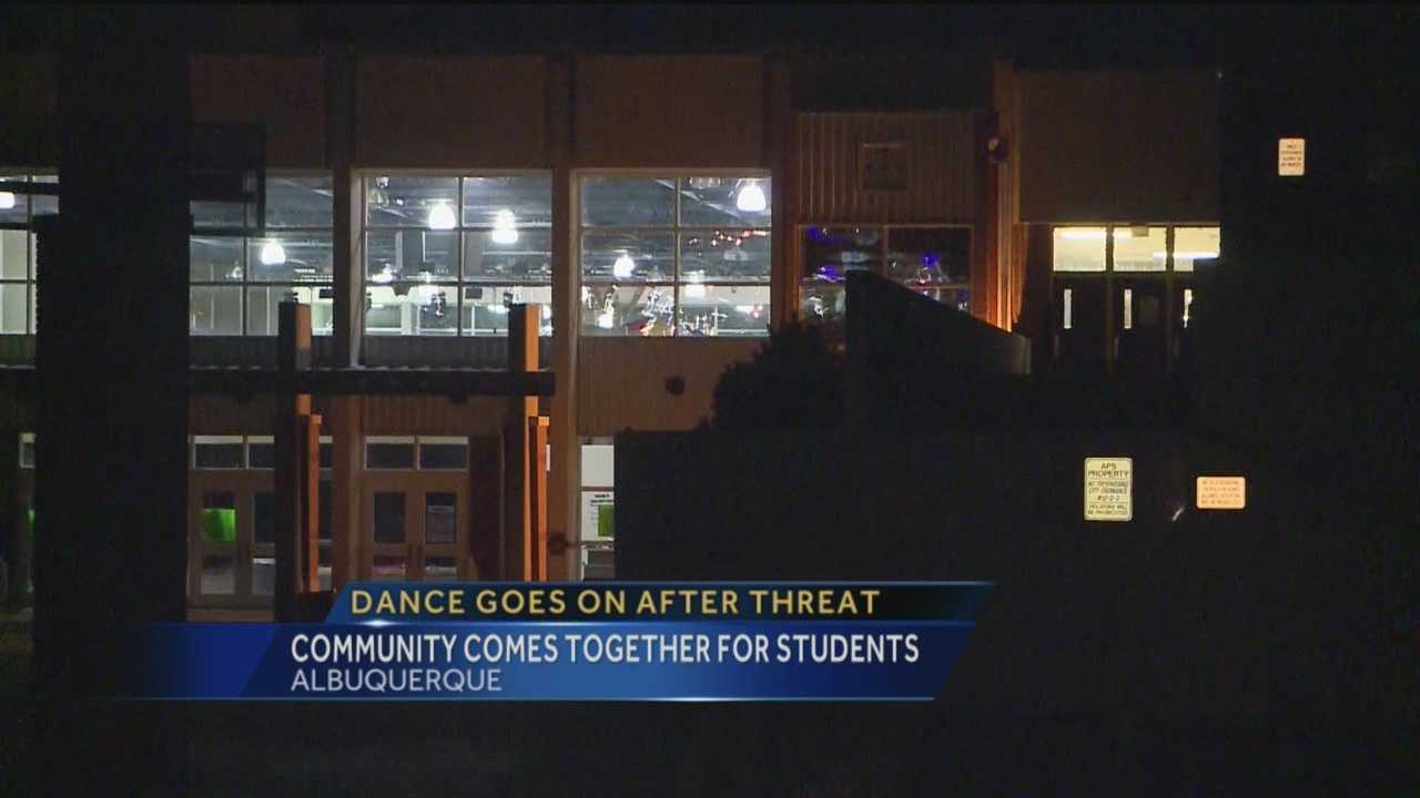 After a gun threat forced Cibola High School to reschedule its homecoming dance, the event went off without a hitch Saturday night.