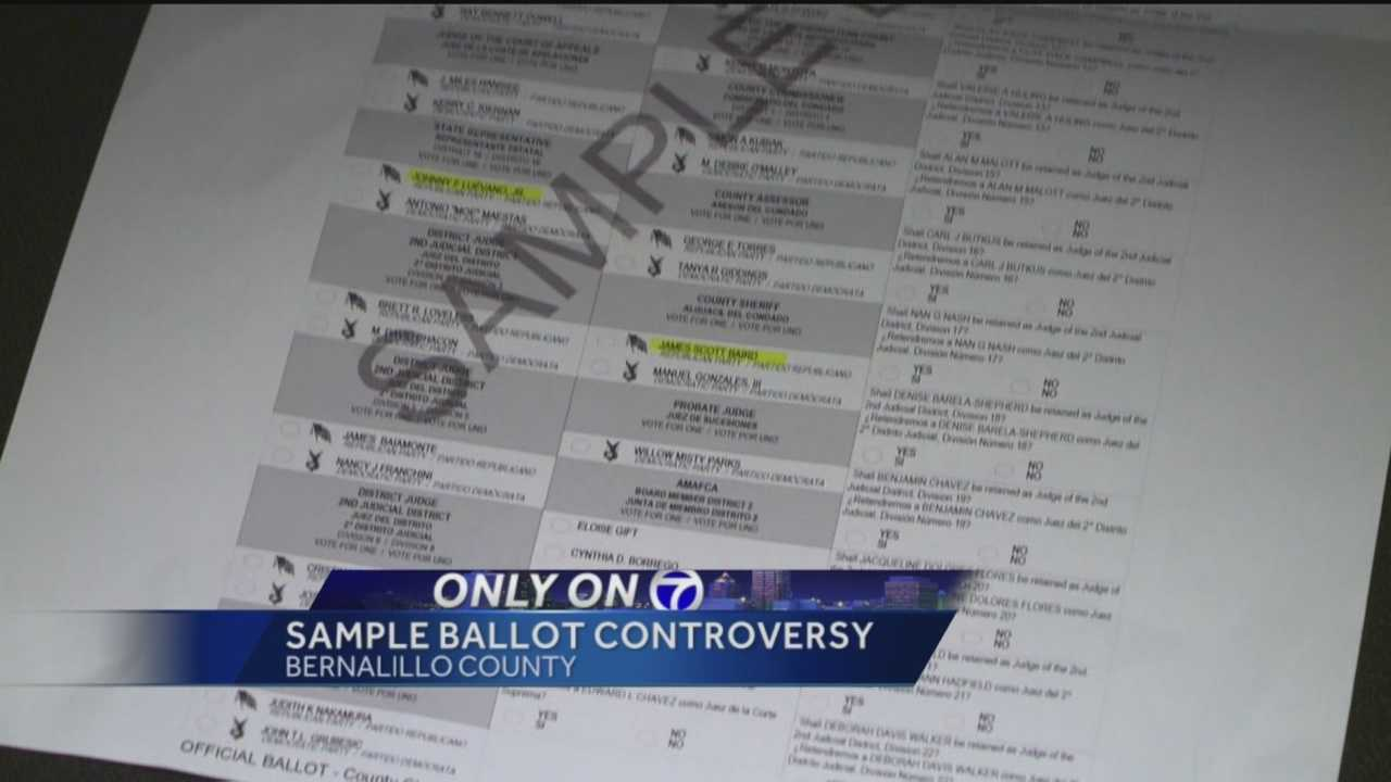 ABQ church gives parishioners highlighted sample ballots