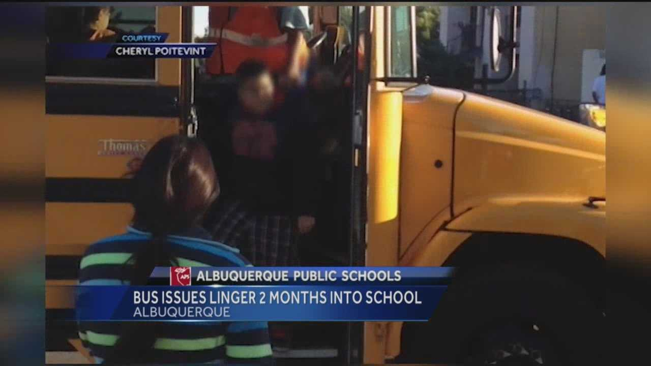 One parent says the school district marked her daughter absent because of all the bus problems.