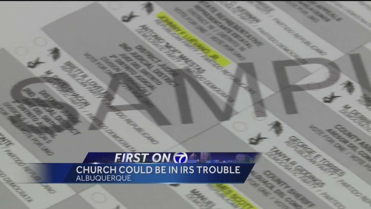 A local church handed out sample ballots, suggesting who parishioners should vote for, but that may have been a risky move.