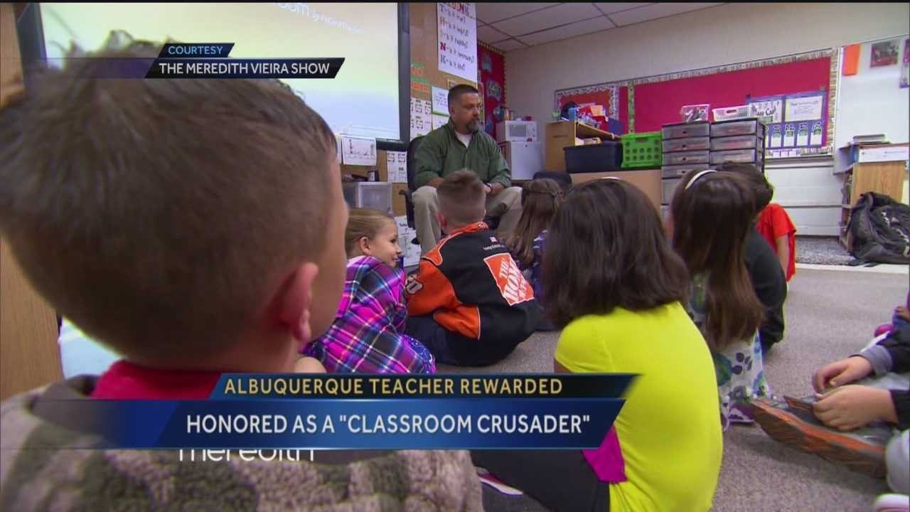 An Albuquerque teacher got the surprise of a lifetime on national television.