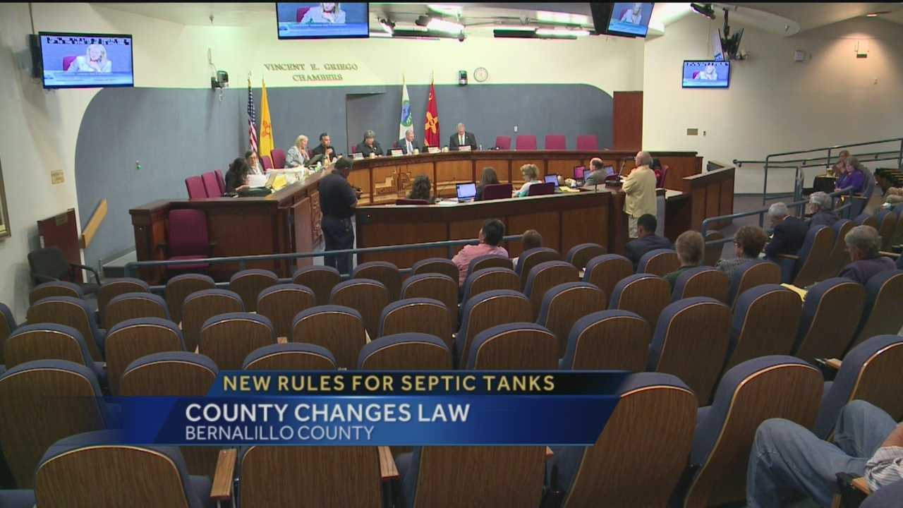 Bernalillo County has decided to tighten the rules around what it considers to be a stinky problem, septic tanks.