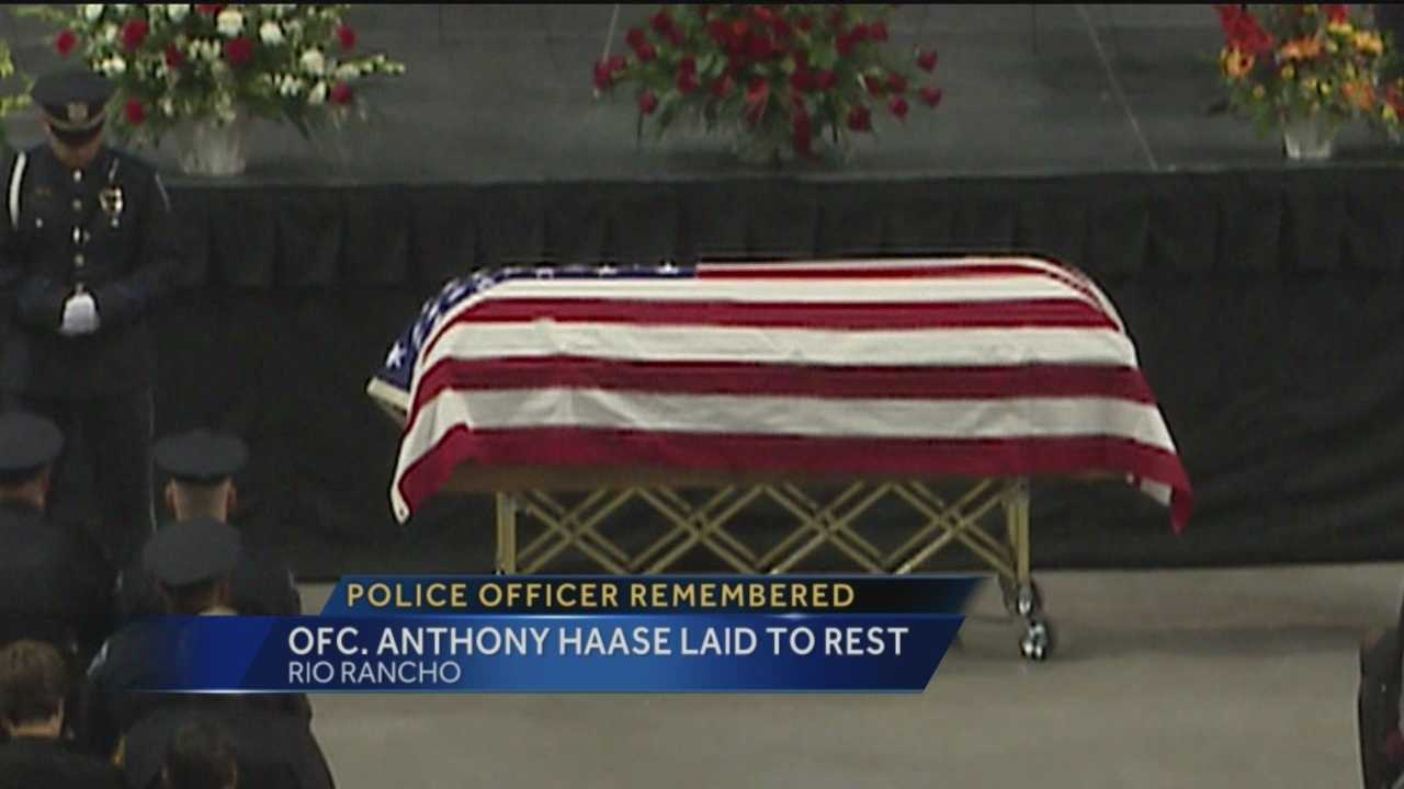 The Rio Rancho Police Department said goodbye to one of their own on Thursday.