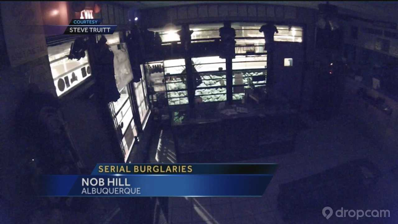 Serial burglars caught on camera on Route 66 won't give up, and now business owners are taking matters into their own hands to stop thieves.