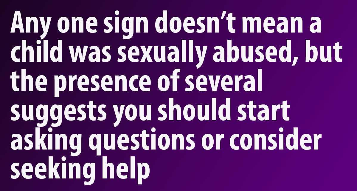 Sex Warning Signs