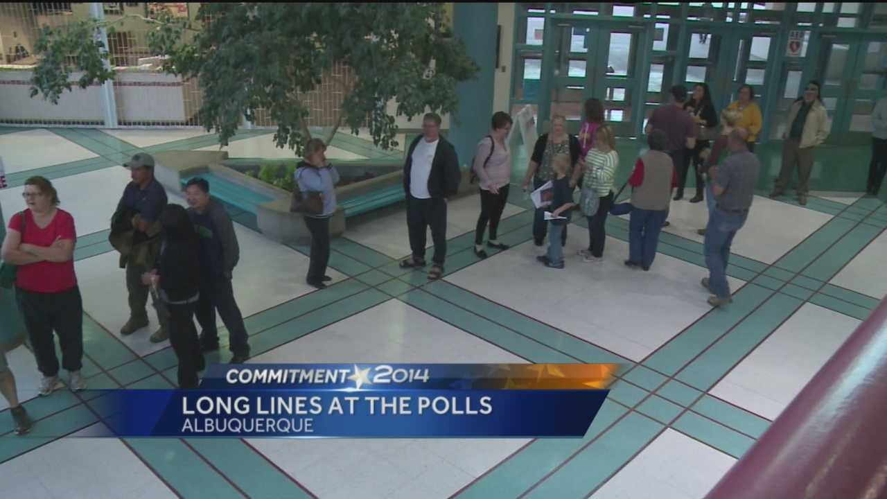 Some voters in Albuquerque waited hours to cast their ballots Tuesday.