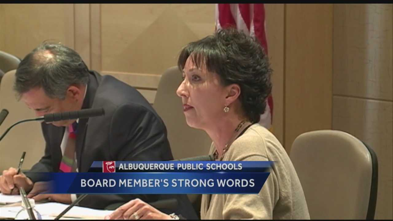 An Albuquerque Public School Board member was recently caught on camera saying she was glad her child is getting out of the district.