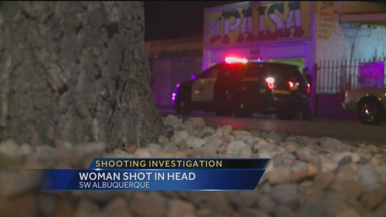 A woman shot in the head Monday night in southwest Albuquerque is out of the hospital.
