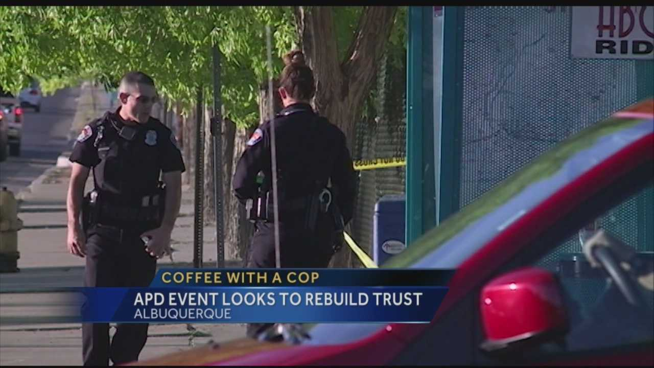 The Albuquerque Police Department's reform efforts will involve rebuilding ties with the community it protects. That's why the department is inviting residents to talk with officers over a cup of coffee.