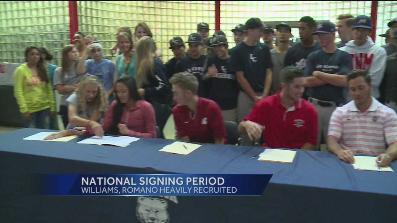 A long list of local athletes signing division one letters of intent and two females received the most national attention.