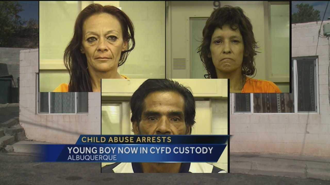 Bernalillo County sheriff's deputies said a young boy was being abused by three adults at a southwest Albuquerque apartment complex.