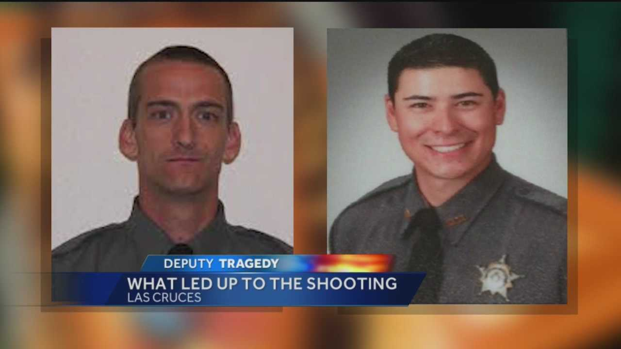 The former Santa Fe County deputy accused of shooting a fellow deputy in Las Cruces in October has bonded out of jail.