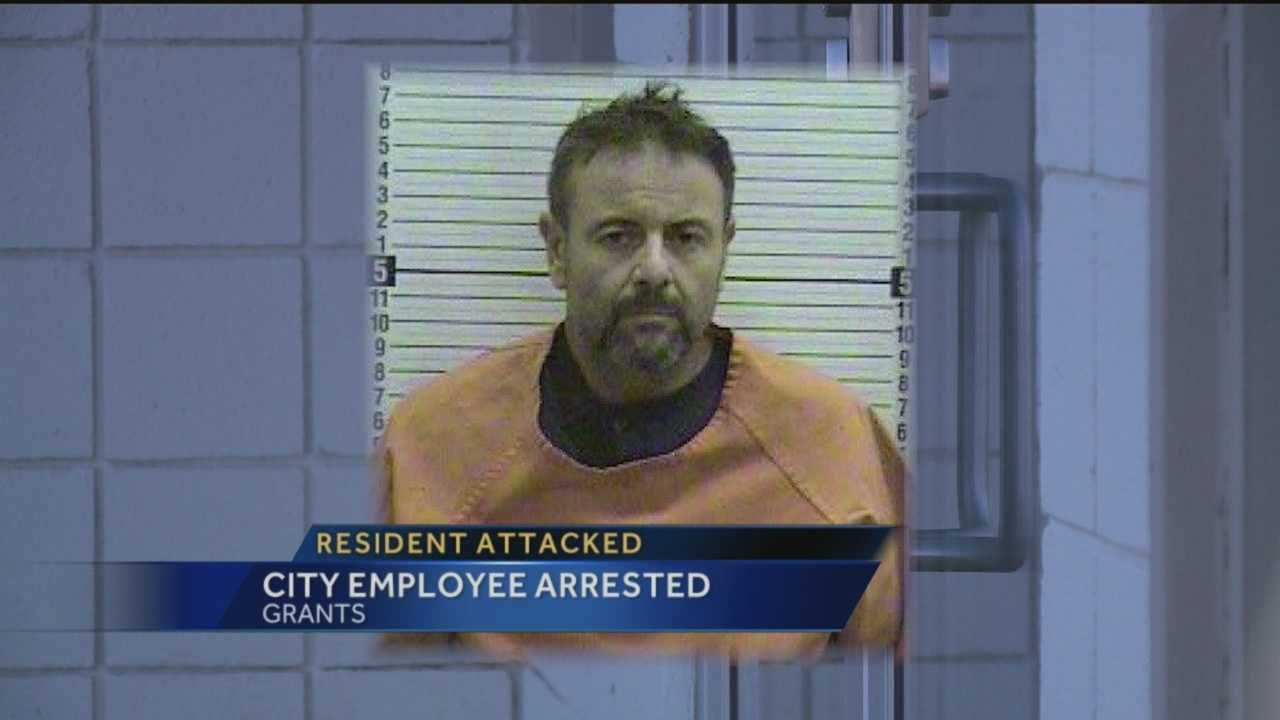 A Grants city employee is under the microscope after he was arrested in connection with an incident that left him with a gunshot wound in the stomach.