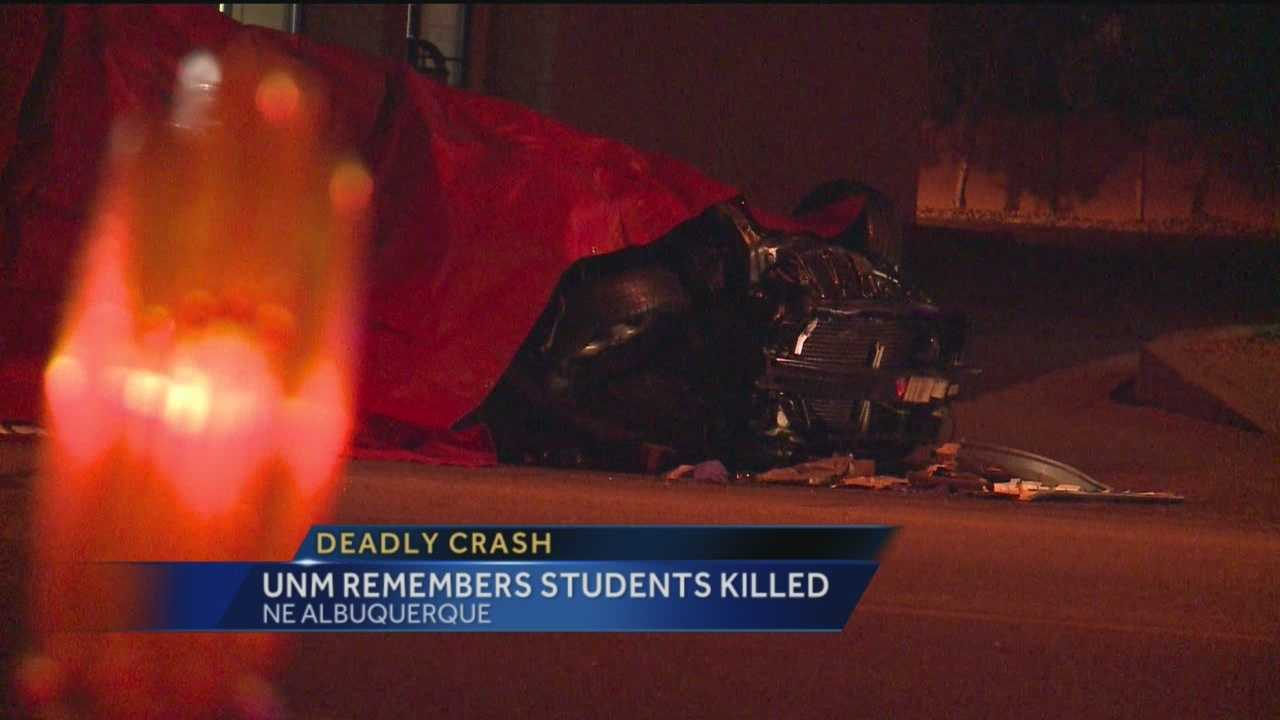 It's been a difficult few days for students at the University of New Mexico, who are trying to cope after two of their own were killed in a car crash.